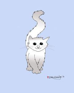 kitten 001 blue background